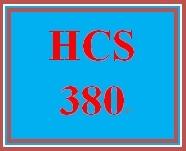HCS 380 Entire Course