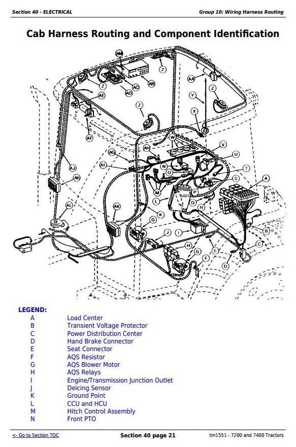 John Deere 7200 and 7400 2WD or MFWD Tractors Service Repair Manual (tm1551)