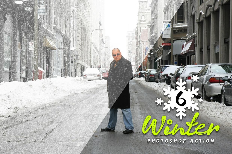 6 Winter Photoshop Action