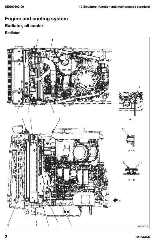Komatsu Bulldozer D155AX-6 Galeo ECOt3 sn:80001 and up Workshop Service Manual
