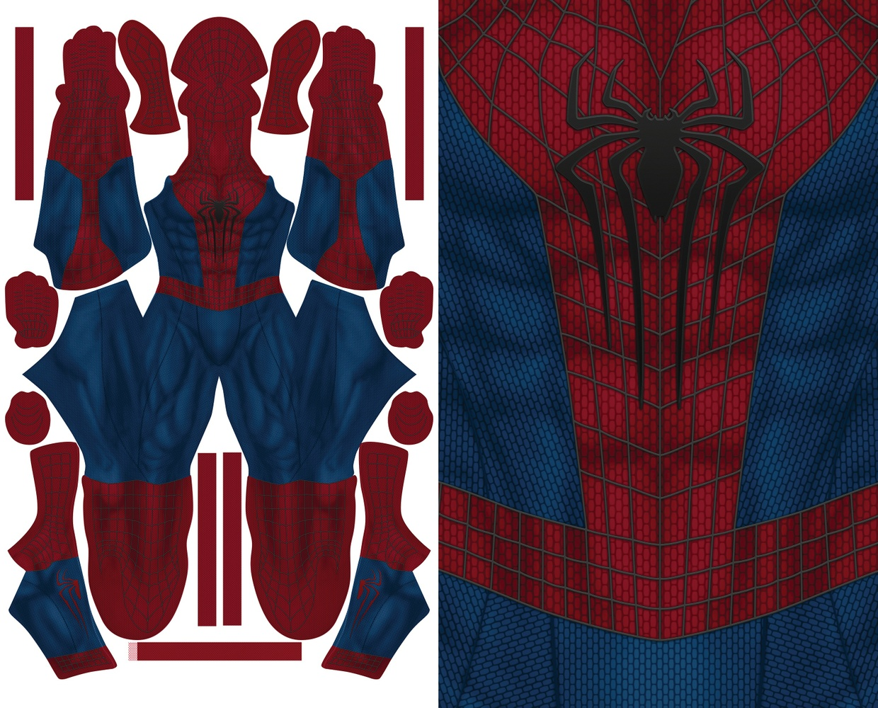 the amazing spiderman 2 new muscle base pattern file. Black Bedroom Furniture Sets. Home Design Ideas