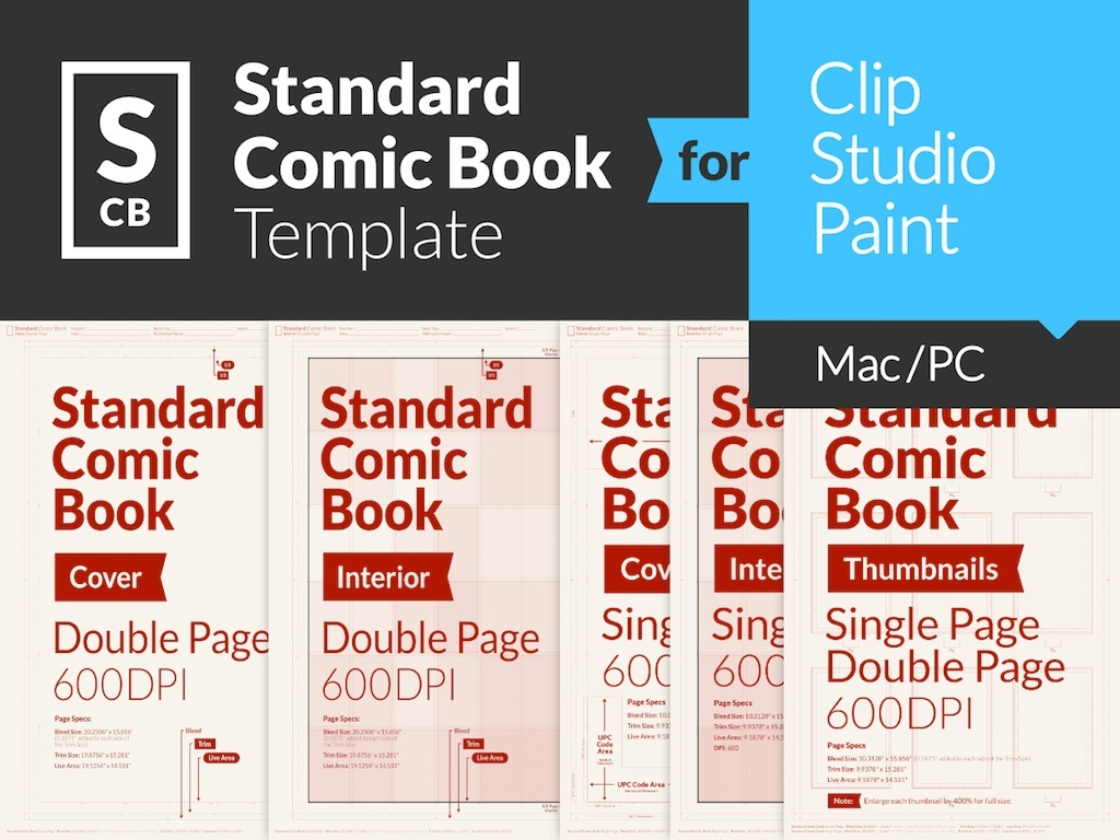 Standard Comic Book Page Template for Clip Studio Paint