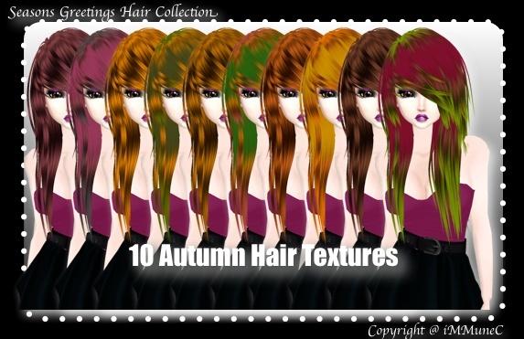 10 Autumn Hair Textures (SG)