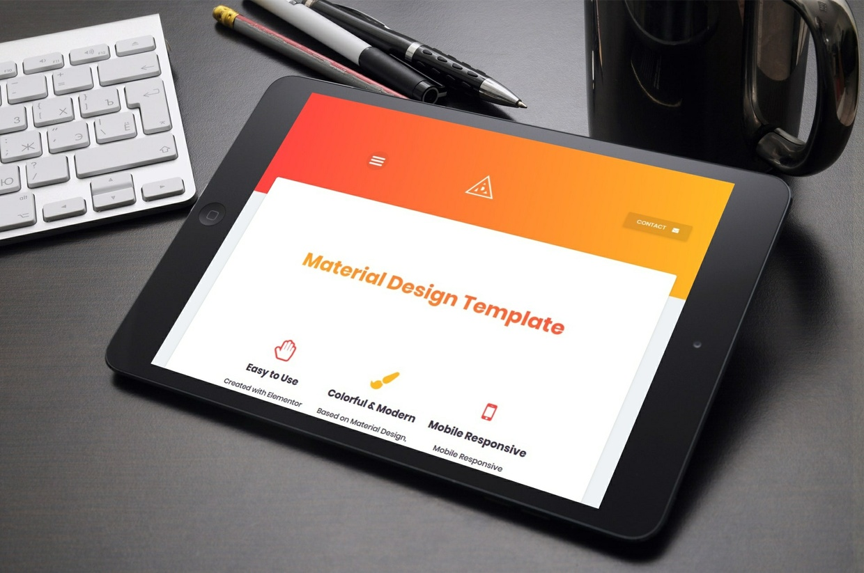 Material Design Template for Elementor