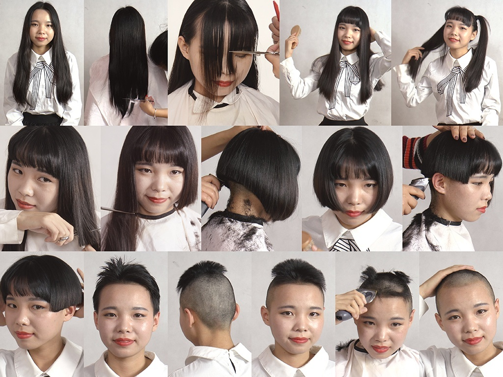 Miss Tian Long to Buzz Haircut in Stages