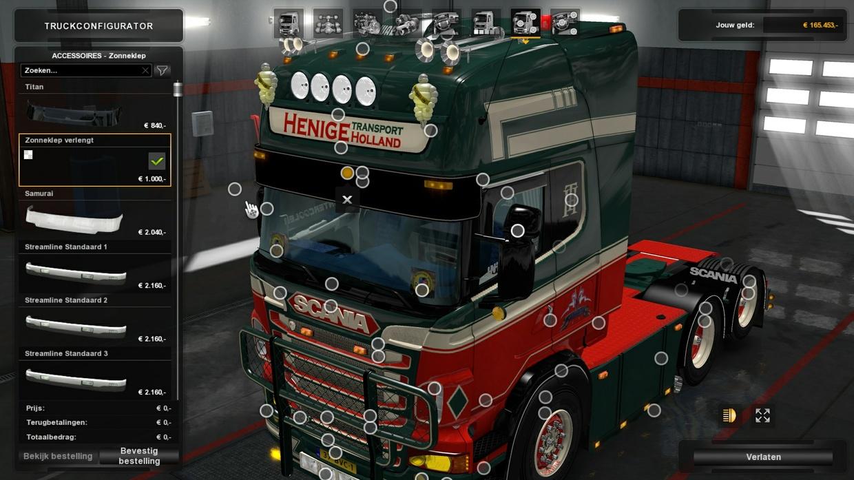 Sunshield for Scania RJL R (Euro Truck Simulator)