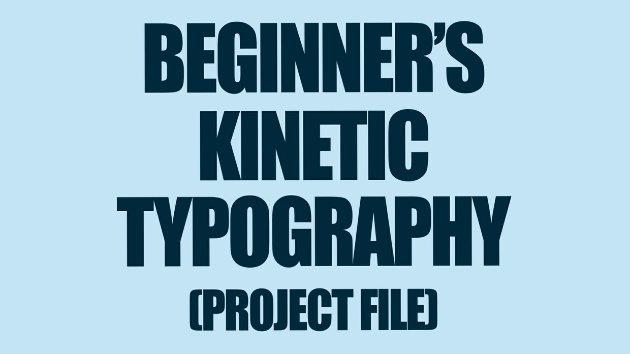 beginner s kinetic typography after effects tutorial