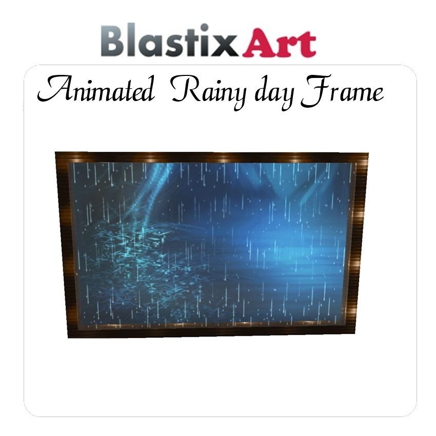 Animated  Rainy day Frame