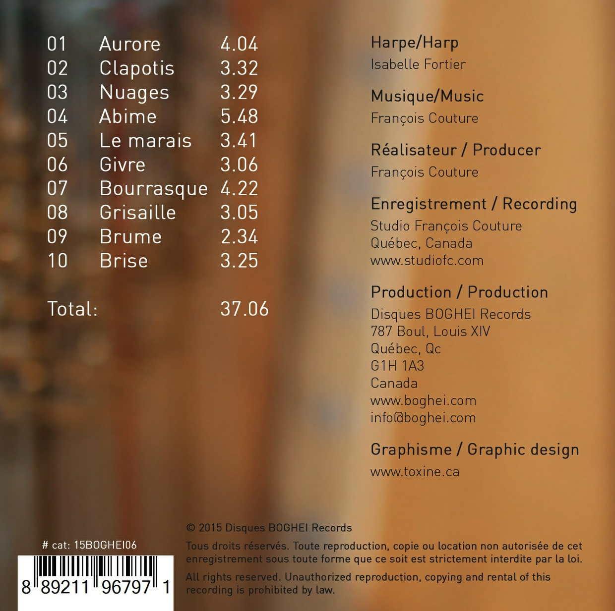 FULL Album - SONGES - Isabelle Fortier (harpist) - François Couture (Composer)