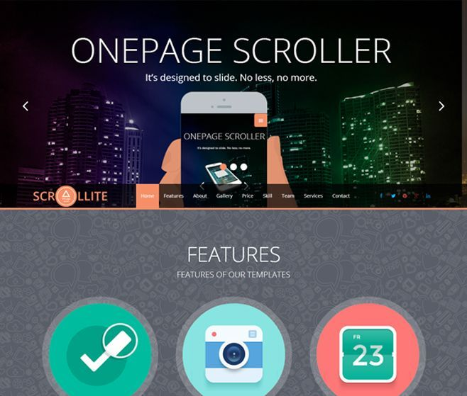 Onepage Scroller template