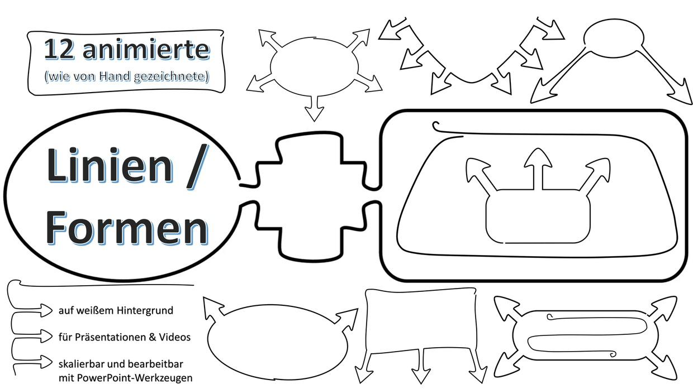 12 handanimierte Formen für Präsentationen und Erklärvideos