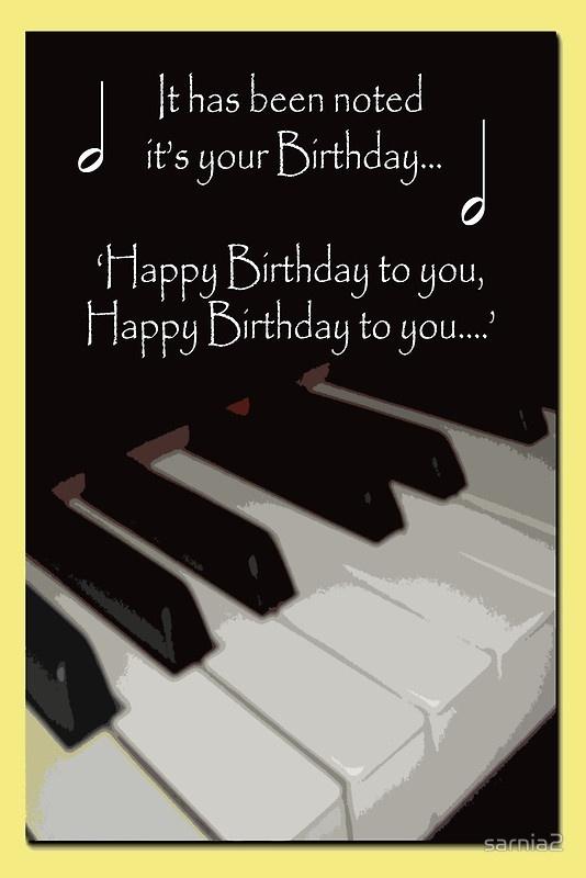 Happy Birthday for Piano