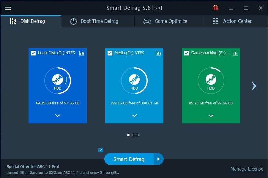 Original iObit Smart Defrag 5 Full Pro Lifetime License Never Expired
