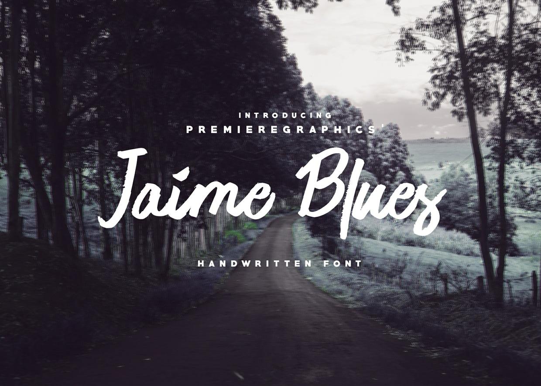 Jaime Blues Free Handwritten Font