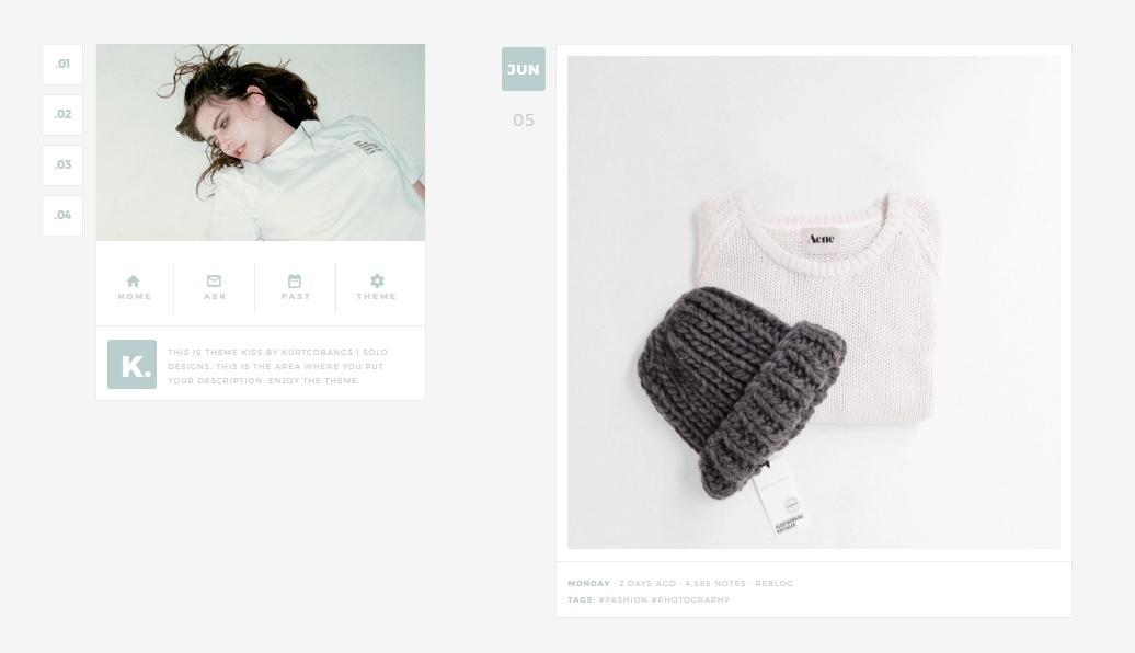 Kiss: Tumblr Theme