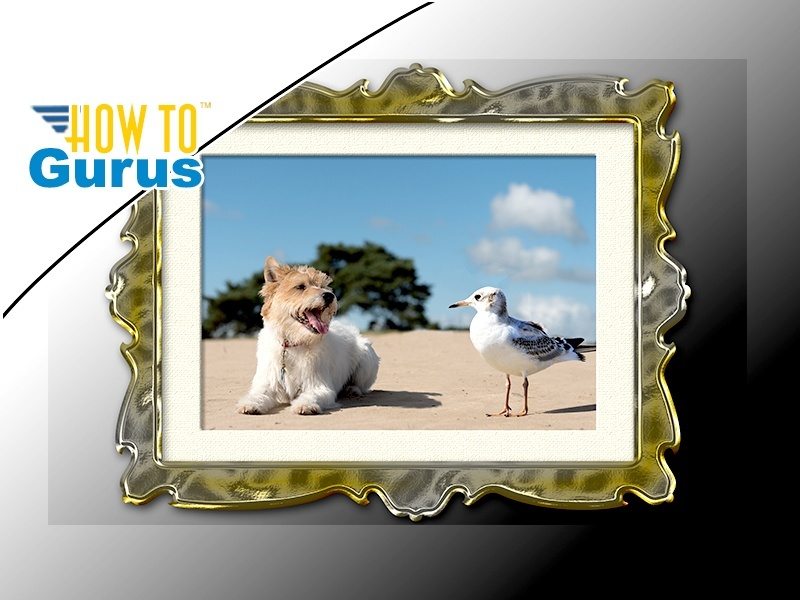 Photoshop Elements Add Border and Frame to Photo : Border Effect 15 14 13 12 11 Tutorial