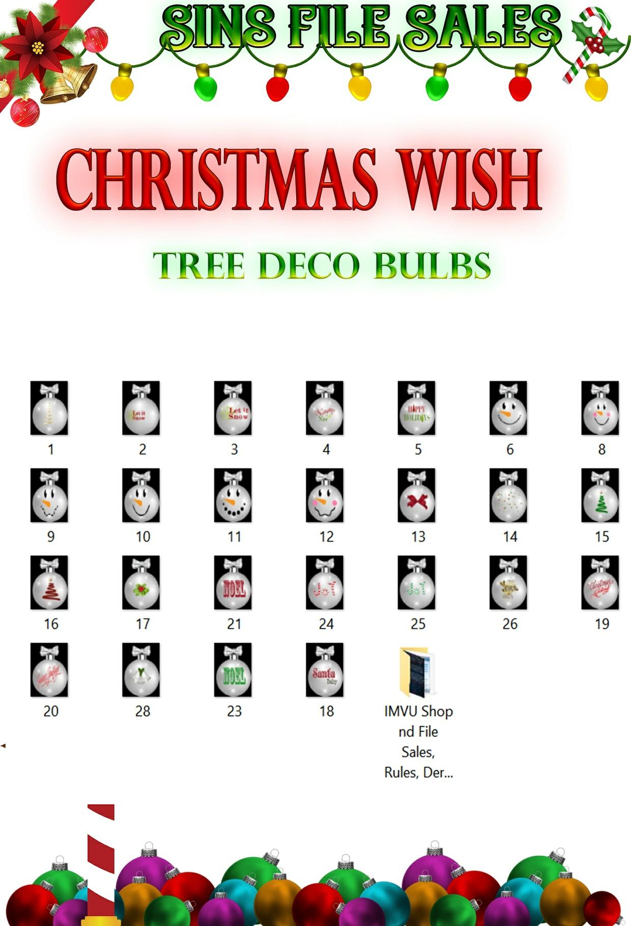Christmas Wish-Tree Deco Bulbs