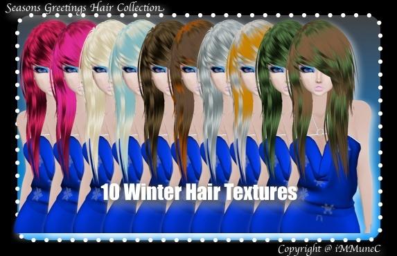 10 Winter Hair Textures (SG)