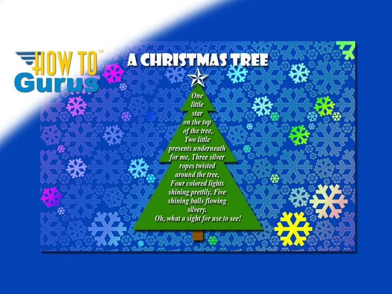 How to make a Christmas Tree Poem Card in Photoshop Elements 11 12 13 14 PSE Tutorial
