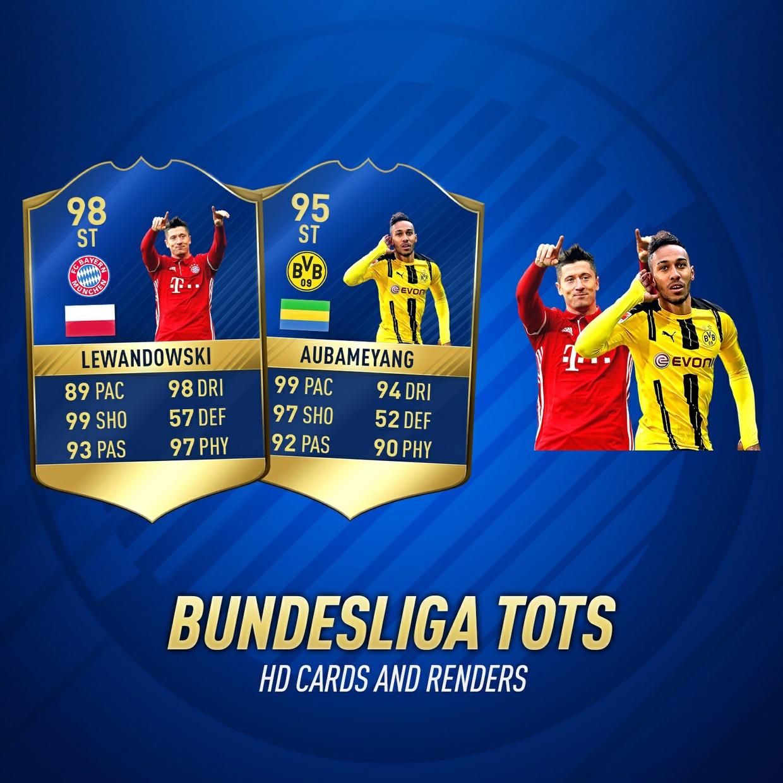 FIFA 17 BUNDESLIGA TOTS HD CARDS AND RENDERS
