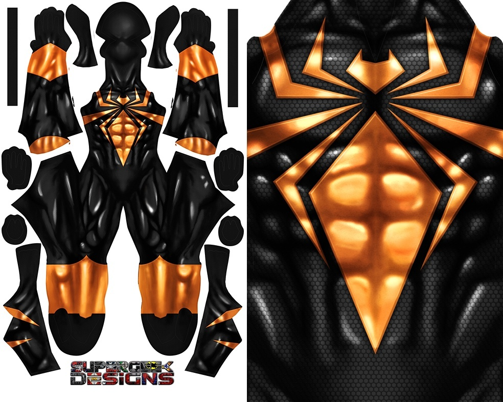IRON SPIDER (Miles Morales uncle version) pattern file