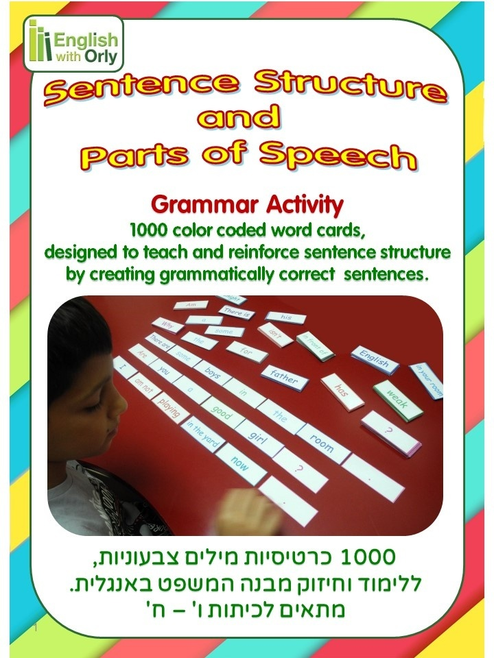 Sentence Structure and Parts of Speech