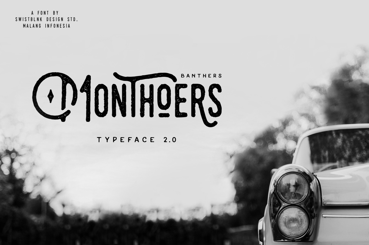 Monthoers Typeface