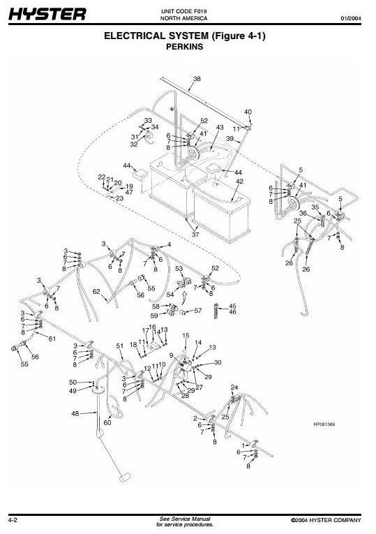Hyster Forklift Truck F019 Series: H13.00XM, H14.00XM, H16.00XM, H12.00XM-12EC Spare Parts List