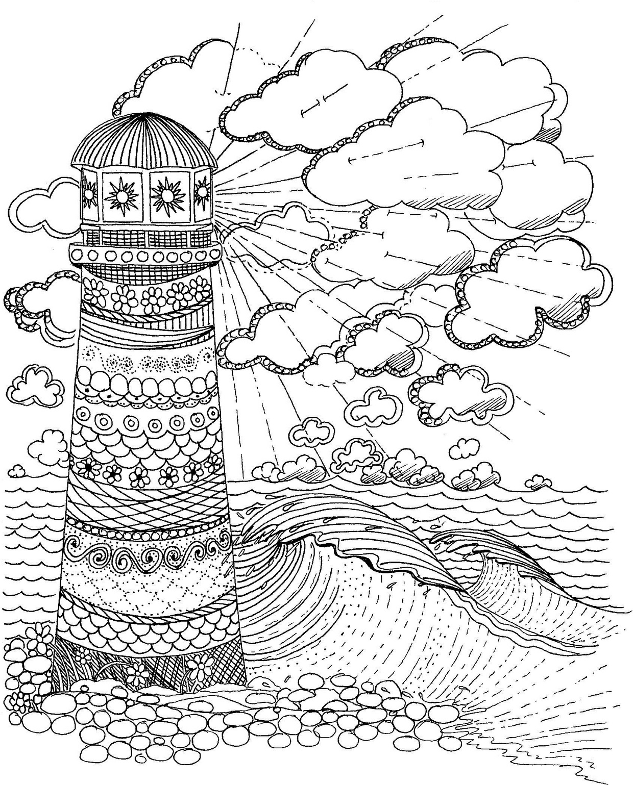 Lighthouse Coloring Page southernskystudio