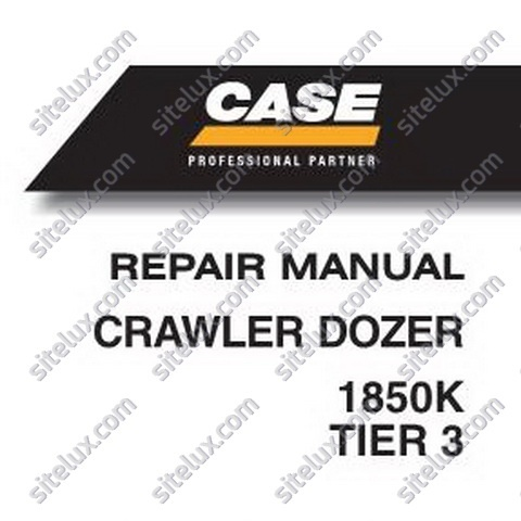Case 1850K (Tier 3) Crawler Dozer Repair Manual