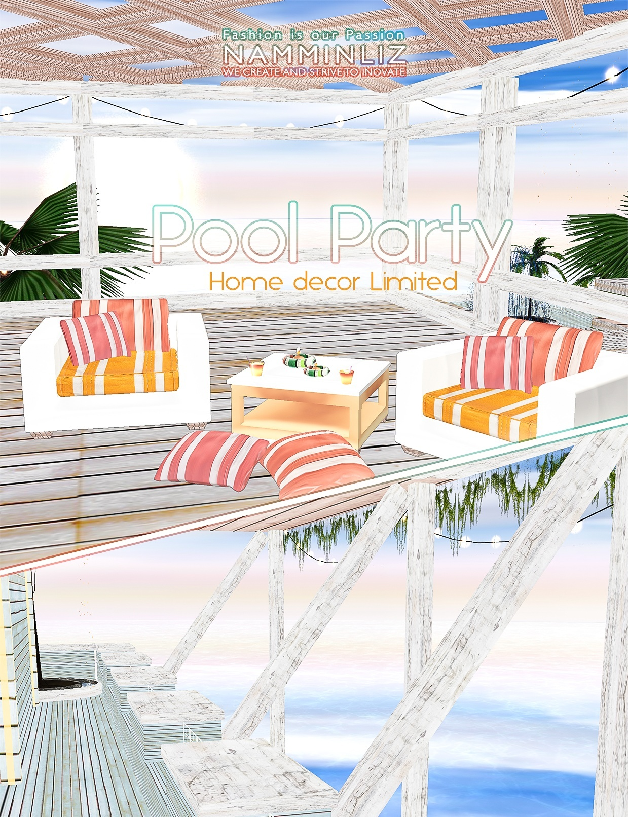 Pool Party imvu Home decor 30 Textures PNG 5*.CHKN Limited to 4 person only
