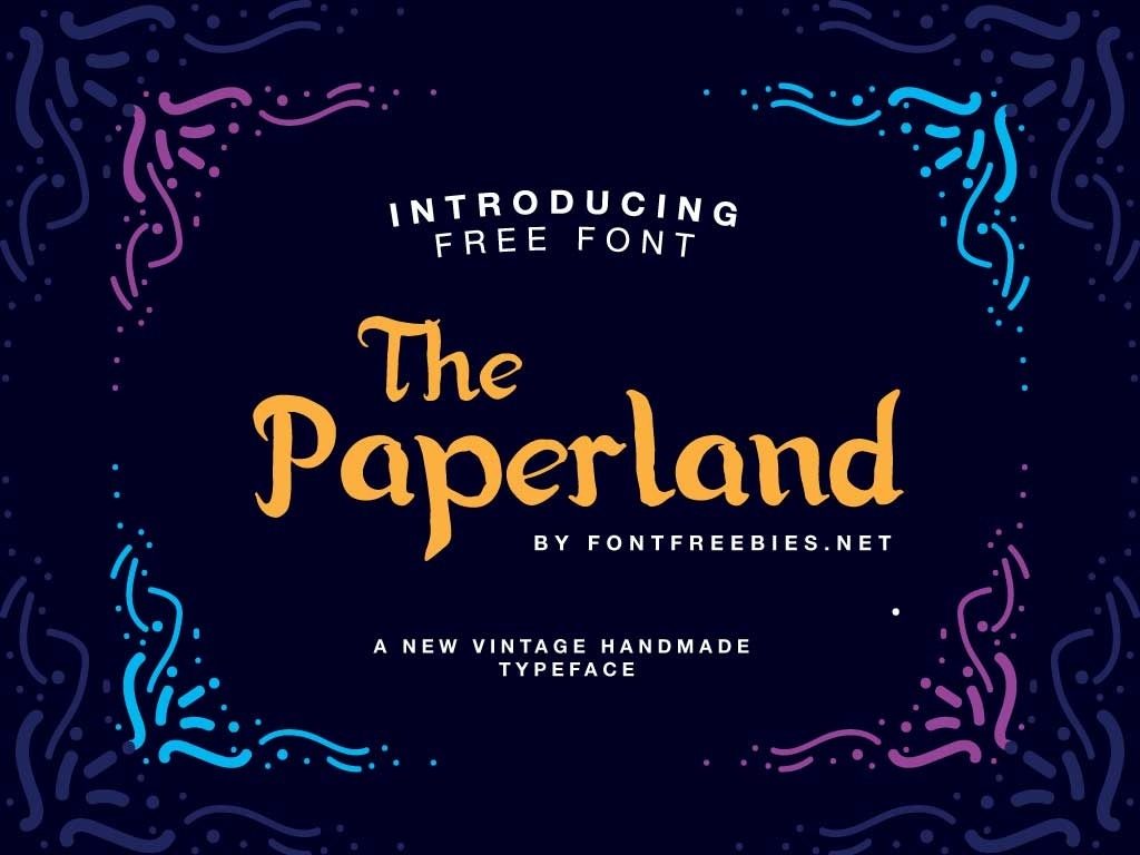 Free Font Paperland Typeface