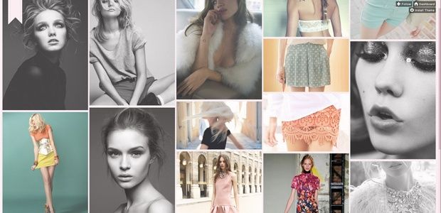 Pandora - Fashion based gridded tumblr theme
