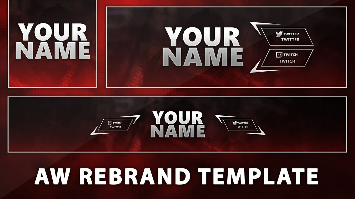 Red AW Twitter Header Template.
