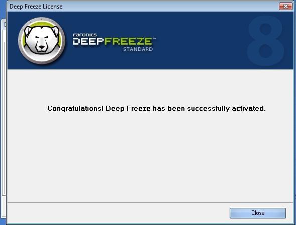 Original Deep Freeze 8 Standard Final Full Lifetime Activated Never Expired