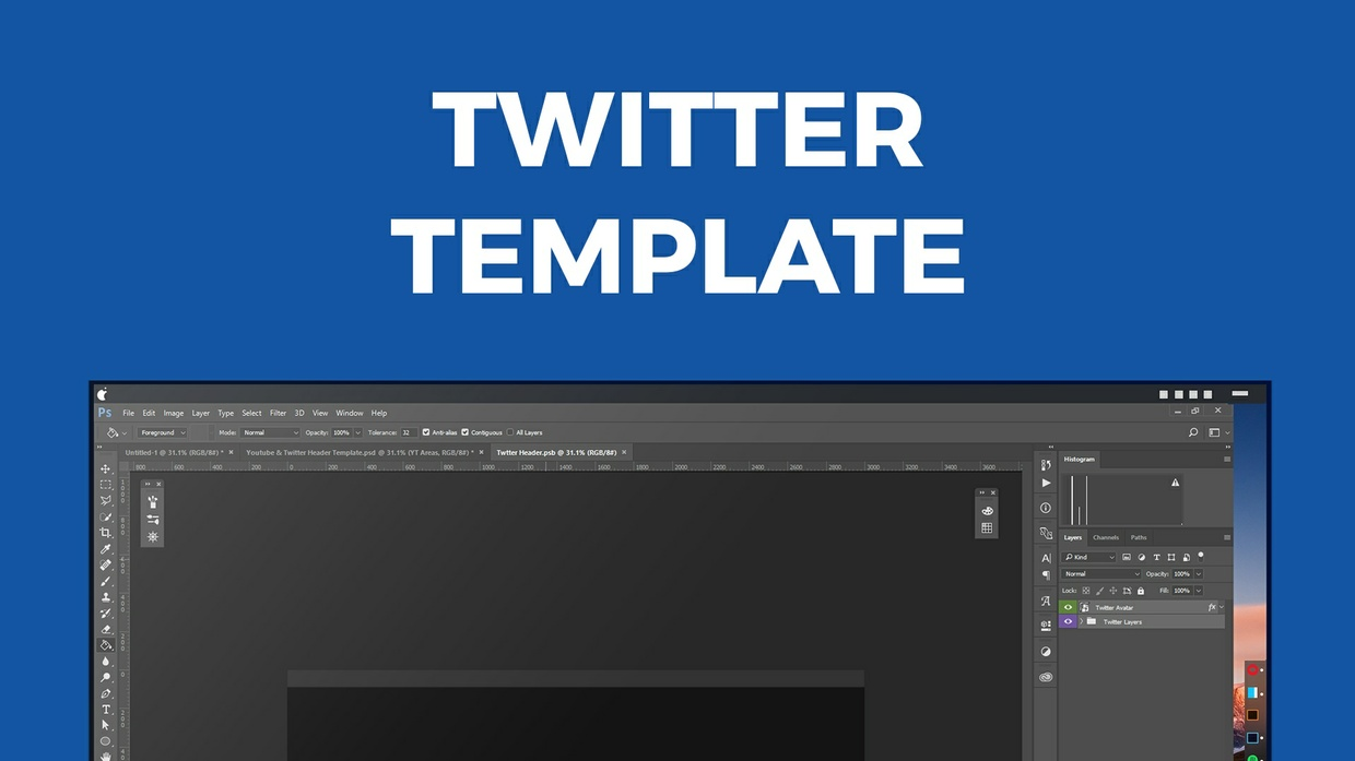 Twitter Header Template | Easy Mock-Ups and Templates - Sellfy.com