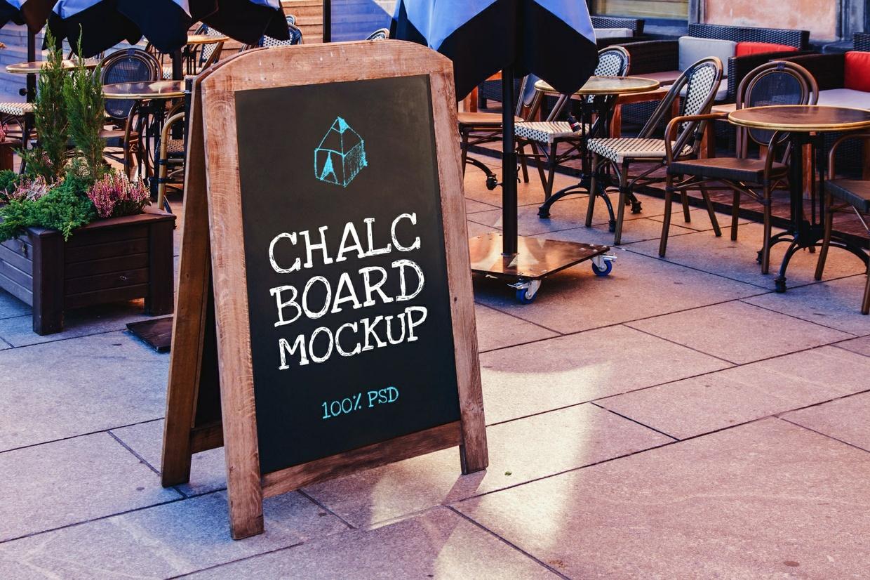 Free Chalc Board Mockup