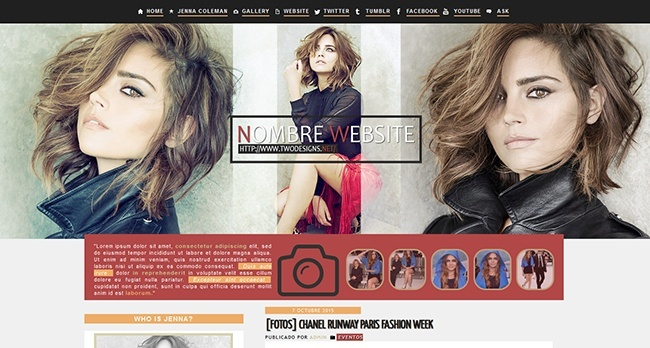 WP Premade 4 -  feat Jenna Coleman