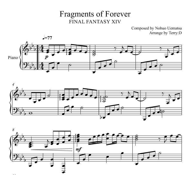 FINAL FANTASY XIV - Fragments of Forever (Arr.by Terry:D)