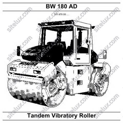 Bomag BW 180 AD Tandem Vibratory Roller Repair Instructions