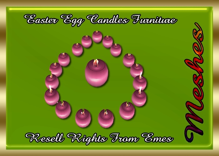 Easter Egg Candles Furniture Catty Only!!!