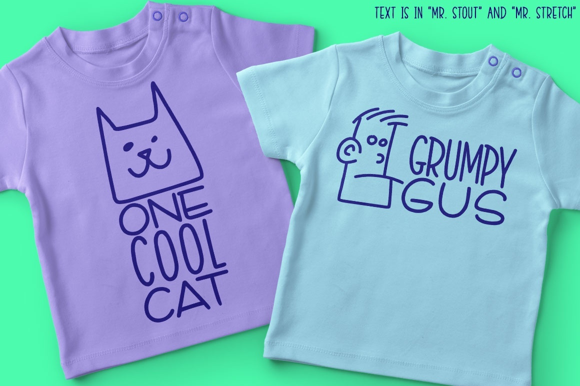 Kookyheads dingbat doodle font!