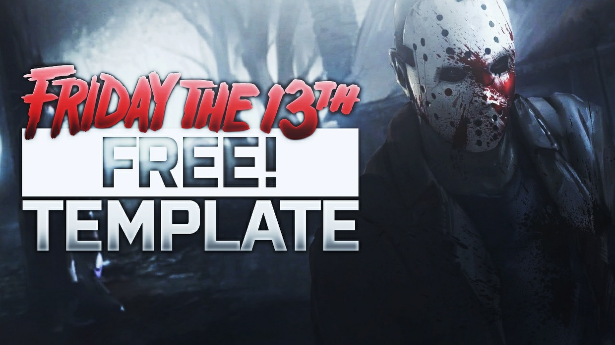 Friday the 13th The Game - Thumbnail Template Pack - Photoshop Template