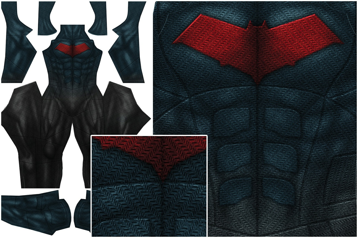 RED HOOD - Justice League style - pattern file