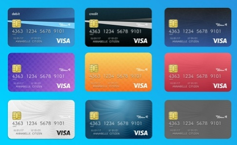 Credit Cards Vector UI Template (Sketch)
