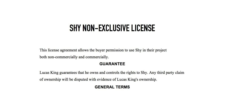 Emotional Piano - Shy License