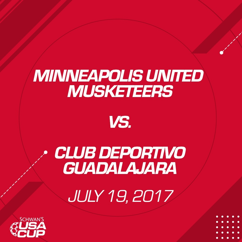 Boys U12 11v11 - July 19, 2017 - Minneapolis United Musketeers vs Club Deportivo Guadalajara