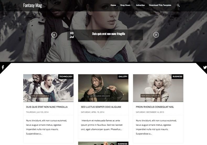 Fantasy Mag Blogger Template Premium Version