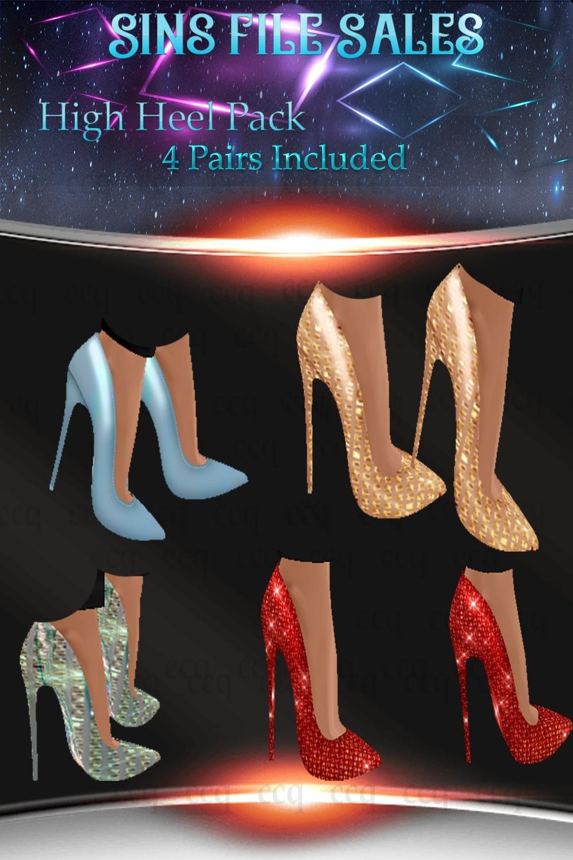 High Heel Set- 4 Pairs