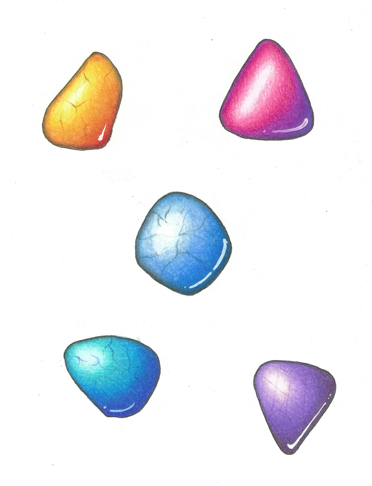how to color smooth gemstones and flowers pdf